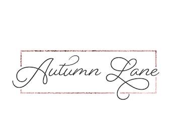 Premade Logo Design, Simple Logo, Geometric Logo, Watermark Logo, Modern Logo, Rectangle Logo, Feminine Logo, Minimal Logo, Rose Gold Logo