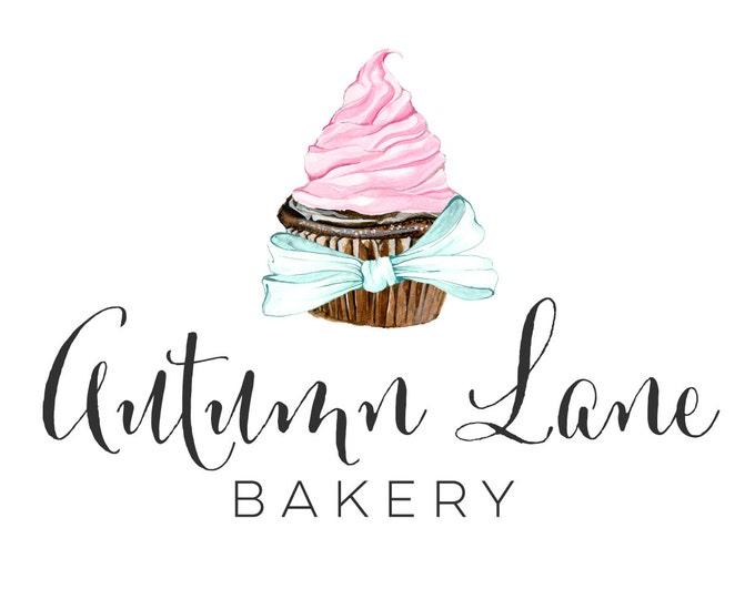 Premade Logo Design, Watermark Logo, Bakery Logo, Cake Logo, Watercolor Logo, Cupcake Logo, Cute Logo, Pastry Chef Logo, Baker Logo