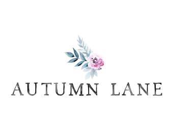 Premade Logo Design, Watermark Logo, Website Logo, Business Logo, Floral Logo, Watercolor Logo, Floral Branding, Minimalist Flower Logo