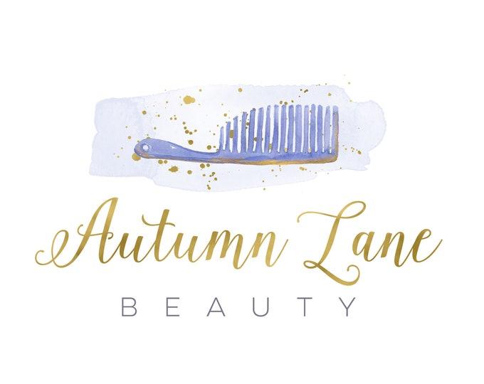 Premade Logo Design, Watercolor Logo, Feminine Logo, Beauty Logo, Esthetician Logo, Hair Stylist Logo, Barber Logo, Makeup Logo