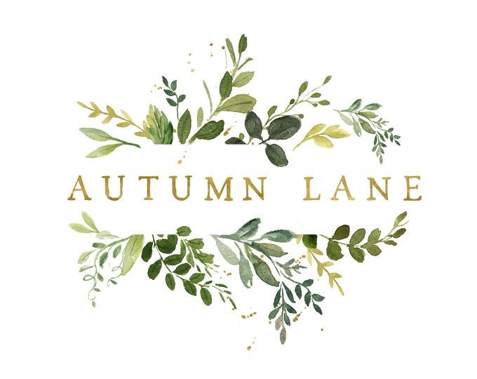 Premade Logo Design, Watermark Logo, Website Logo, Business Logo, Floral Logo, Watercolor Logo, Botanical Logo, Rustic Logo, Vine Logo