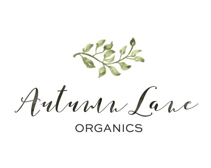 Premade Logo Design, Watermark Logo, Website Logo, Business Logo, Floral Logo, Watercolor Logo, Floral Branding, Minimalist Branch Logo