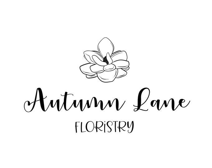 Premade Logo Design, Minimalist Logo, Website Logo, Business Logo, Floral Logo, Watercolor Logo, Magnolia Logo, Botanical Logo, Florist