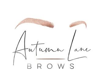 Premade Logo Design, Watercolor Logo, Feminine Logo, Beauty Logo, Makeup Artist Logo, Lash Artist Logo, Eyelash Logo, Makeup Logo
