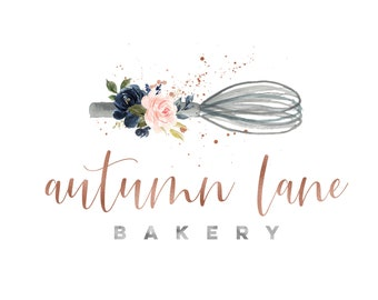 Premade Logo Design, Watermark Logo, Bakery Logo, Watercolor Logo, Floral Logo, Piping Bag Logo, Whisk Logo, Spoon Logo, Pastry Chef Logo
