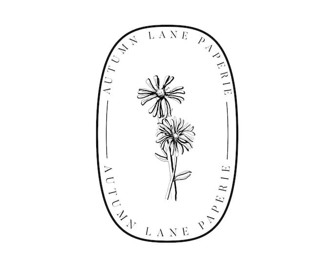 Premade Logo Design, Watermark Logo, Website Logo, Business Logo, Floral Logo, Oval Logo, Modern Logo, Minimalist Logo, Vintage Retro Logo
