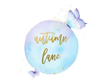 Premade Logo Design, Nature Logo, Watermark Logo, Modern Logo, Butterfly Logo, Whimsical Logo, Elegant Logo, Feminine Logo