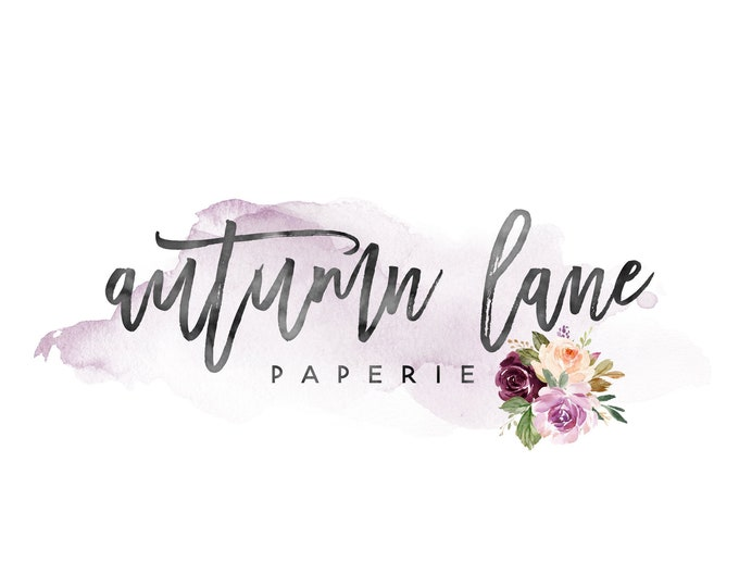 Premade Logo Design, Watermark Logo, Website Logo, Business Logo, Floral Logo, Watercolor Logo, Floral Logo, Rustic Logo
