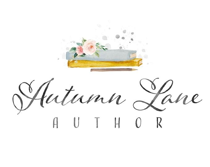 Premade Logo Design, Watermark Logo, Watercolor Logo, Writer's Logo, Author's Logo, Calligraphy Logo, Book Logo, Minimalist Logo, Librarian