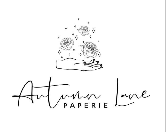 Premade Logo Design, Minimalist Logo, Website Logo, Business Logo, Floral Logo, Watercolor Logo, Peony Logo, Botanical Logo, Florist