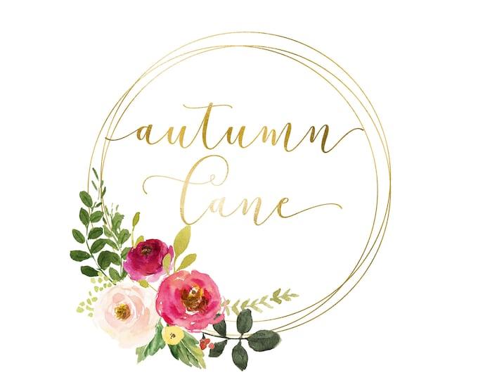 Premade Logo Design, Watermark Logo, Website Logo, Business Logo, Floral Logo, Watercolor Logo, Floral Branding, Elegant Bouquet Logo