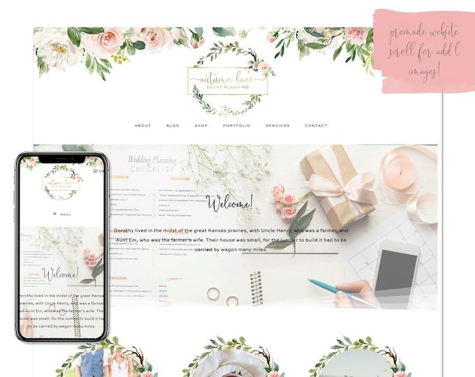 Rose & Ivy, Premade Website - Wordpress Website - Website Design - Branded Website - eCommerce Website - Blog - Mobile Friendly Website