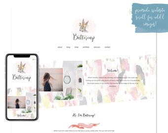 Buttercup, Premade Website - Wordpress Website - Website Design - Branded Website - eCommerce Website - Blog - Mobile Friendly Site