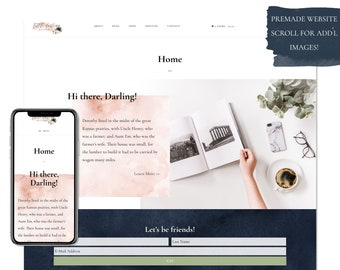 Little Darling, Premade Website - Wordpress Website - Website Design - Branded Website - eCommerce Website - Blog - Mobile Friendly Website