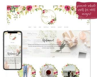 Poppy & Ivy, Premade Website - Wordpress Website - Website Design - Branded Website - eCommerce Website - Blog - Mobile Friendly Website