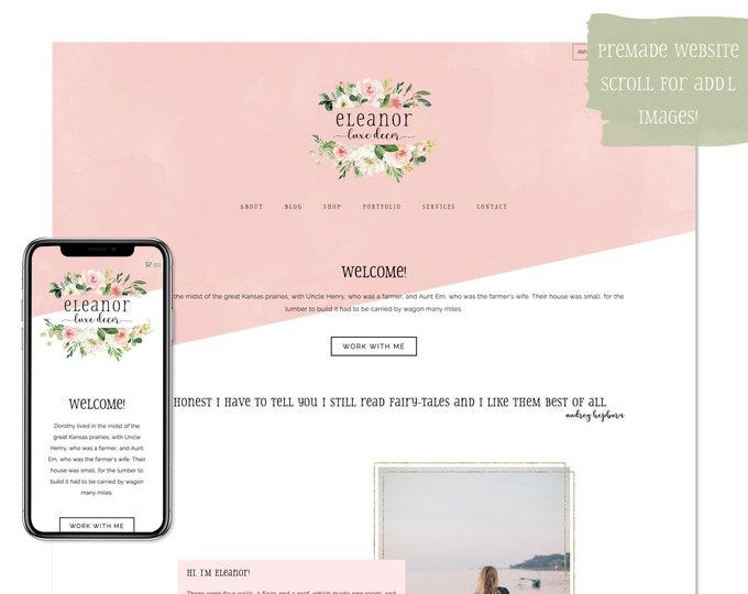 Eleanor, Premade Website - Wordpress Website - Website Design - Branded Website - eCommerce Website - Blog - Mobile Friendly Website
