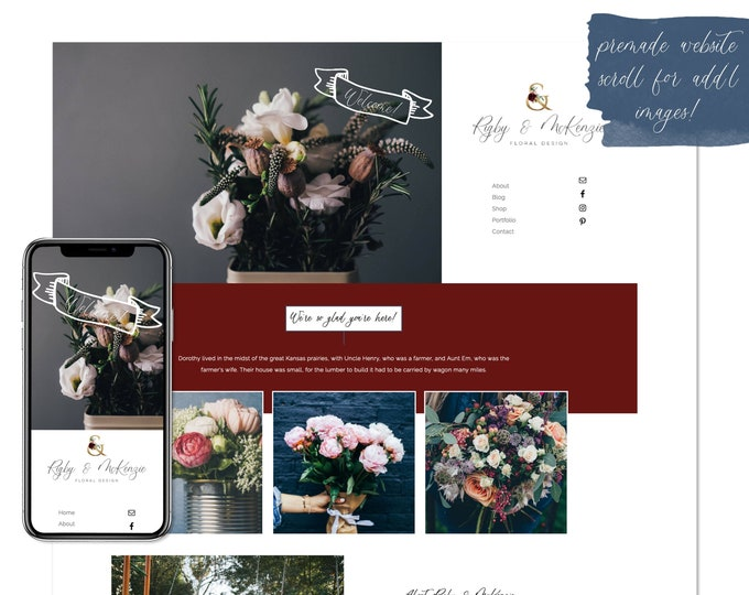 Rigby & McKenzie, Premade Website - Wordpress Website - Website Design - Branded Website - eCommerce Website - Blog - Mobile Friendly Site