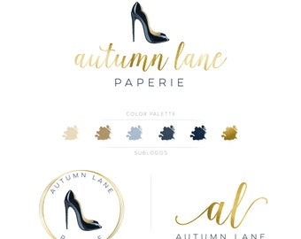 Premade Branding Kit - Branding Package - Logo Design - Premade Logo - Business Card Design - Watercolor Logo - Fashion Logo - Watermark