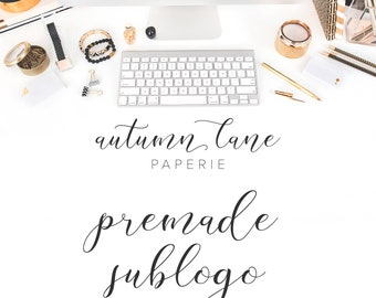 Graphic Design - Premade Sublogo - Premade Logo - Submark - Alternate Logo - Business Branding - Branding Package