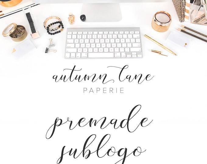 Graphic Design - Premade Sublogo - Premade Logo - Submark - Alternate Logo - Business Branding - Branding Package