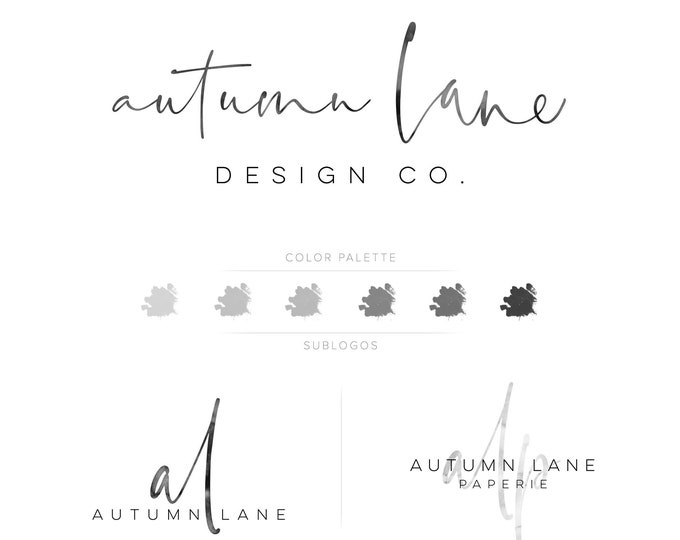 Premade Branding Kit - Branding Package - Logo Design - Premade Logo - Business Card Design - Watercolor Logo - Signature Logo - Watermark