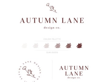 Premade Branding Kit - Branding Package - Logo Design - Premade Logo - Business Card Design - Minimalist Logo - Monochrome Logo - Watermark