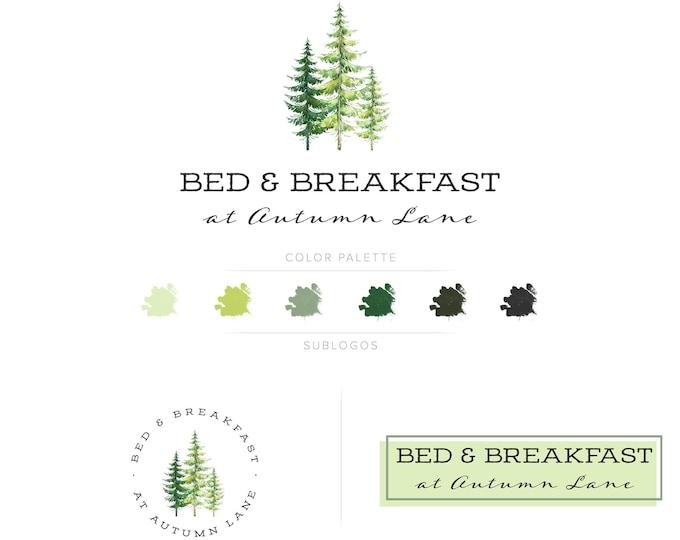 Premade Branding Kit - Branding Package - Logo Design - Premade Logo - Business Card Design - Watercolor Logo - Tree Logo - Watermark