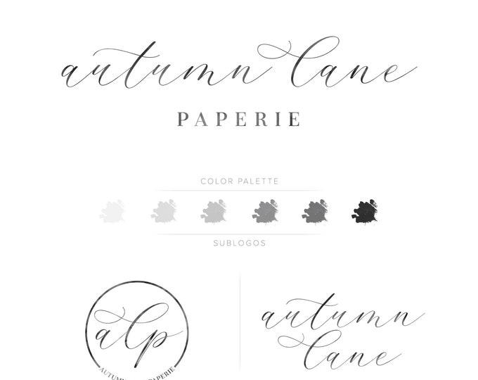 Premade Branding Kit - Branding Package - Logo Design - Premade Logo - Business Card Design - Text Logo - Watermark Logo - Script Logo