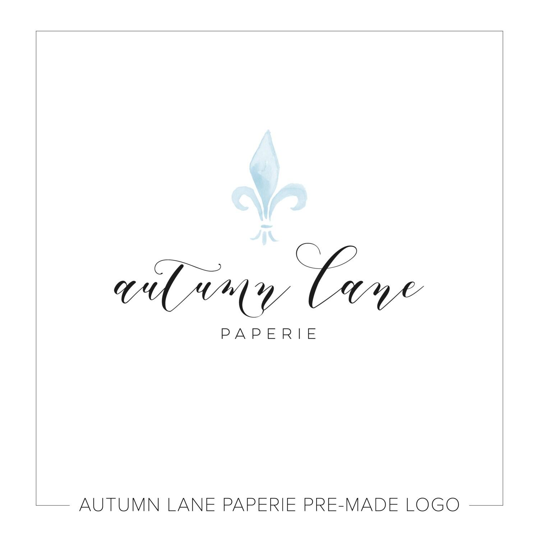 Premade Logo Design, Simple Logo, Watercolor Logo
