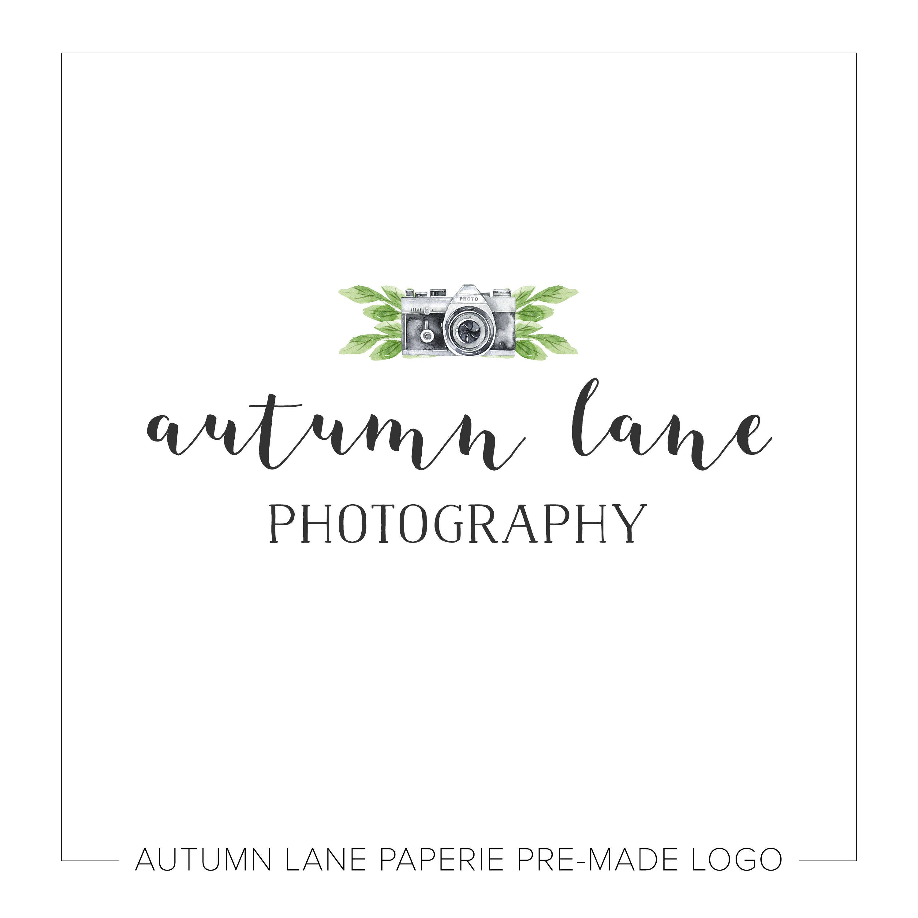 premade logo design watermark logo watercolor logo photography