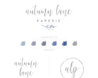 Premade Branding Kit - Branding Package - Logo Design - Premade Logo - Business Card Design - Watercolor Logo - Branch Logo - Watermark