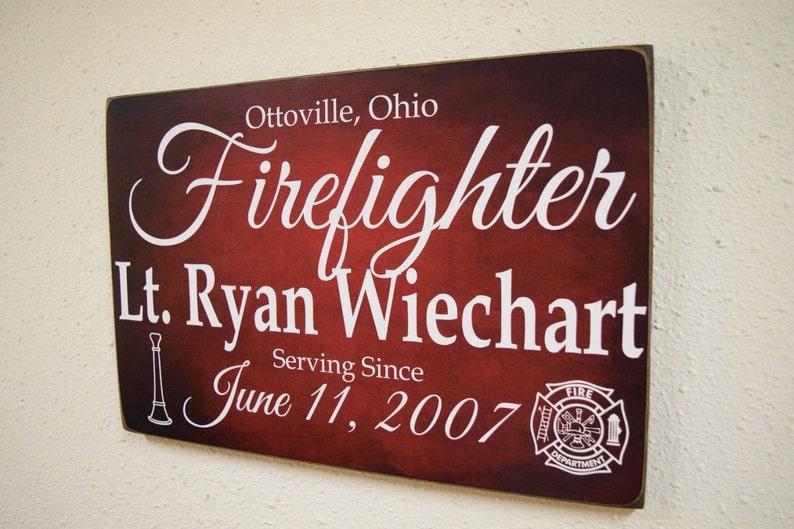 image 0 ... & Firefighter Service Sign Fireman Sign Firefighter Gift | Etsy
