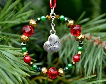 Mom Christmas Gift, Mom Christmas Decoration, Mom Christmas Tree Decoration, Mom Tree Ornament, Mom Gift, Gift for Mom, Mother Gift
