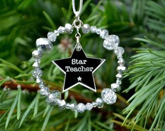 Star Teacher Christmas Gift, Christmas Teacher Gift, Teacher Thank You Gift, Teacher Christmas Present, Gift for Teacher, Teacher Decoration