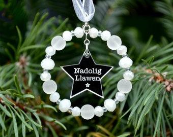 Nadolig Llawen Tree Decoration, Welsh Christmas Gift, Nadolig Llawen Gift, Welsh Christmas Decoration, Welsh Gift, Welsh Teacher Gift