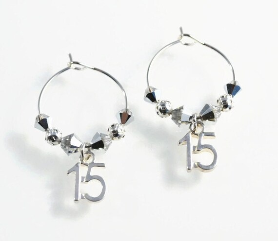 Pair Of 15th Anniversary Wine Glass Charms 15 Year Etsy