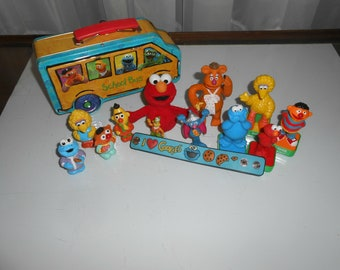 Sesame Street Lunch Box Rubber Stamps Mixed Lot