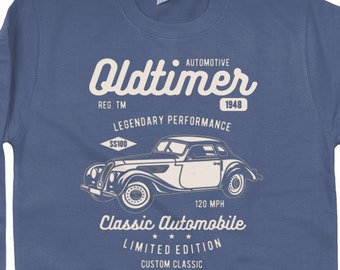 Oldtimer Printed Sweatshirt ideal Fathers Day Gift Idea