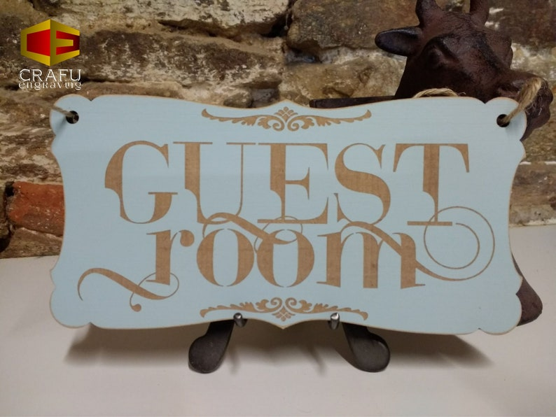 Guest Room sign Shabby Chic Plaque Indoor or Outdoor