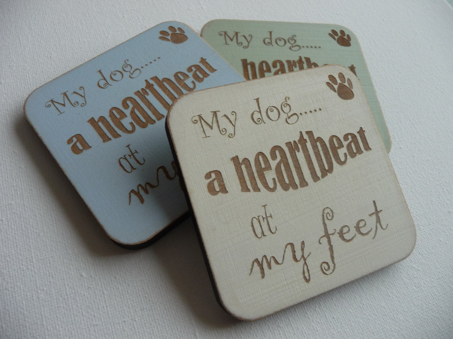 Refrigerator Magnet Godmother Godparent Quote Pink: Dog Quote Fridge Magnet My Dog A Heartbeat At My Feet
