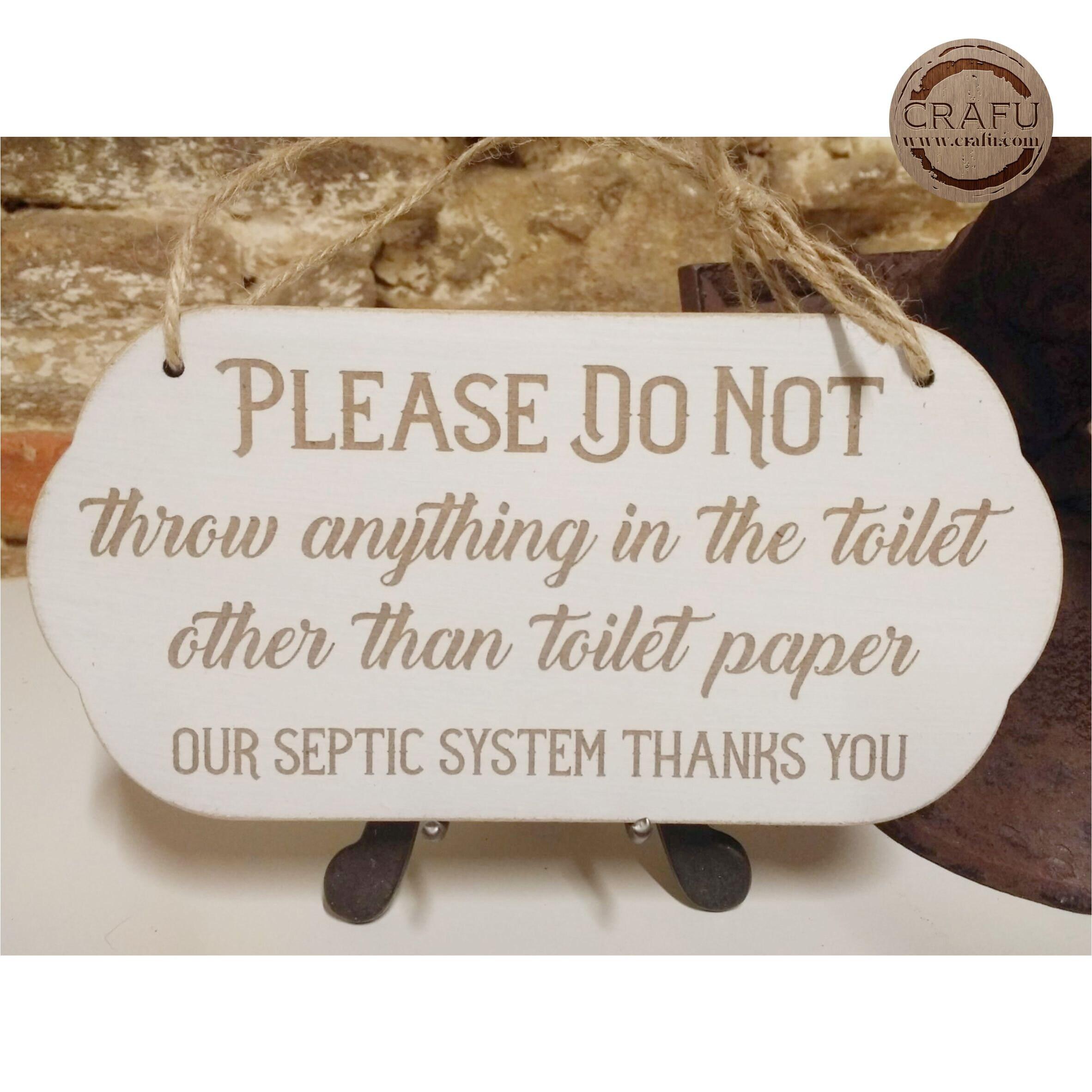 Bathroom Rules Sign Flush Toilet Paper, Bathroom Rules Plaque