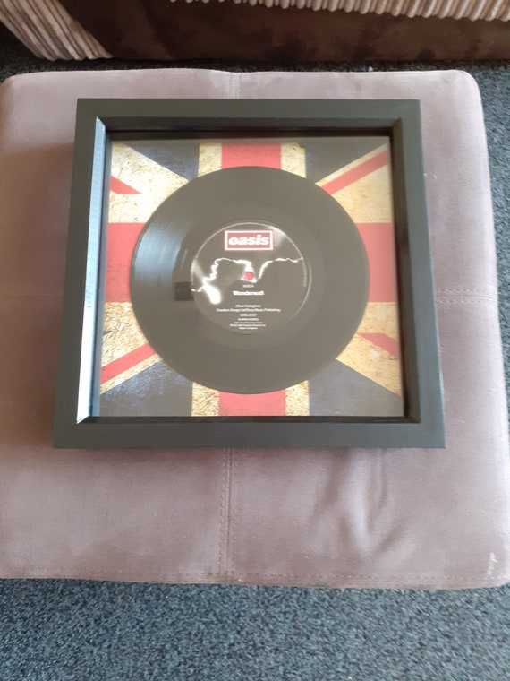Oasis WONDERWALL7/' Vinyl Single FRAMED PRINTPersonalised Birthday Present