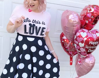 Rock the Dots! Polka dot skirt inspired by my main girl, Minnie Mouse!