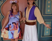 Aladdin and Jasmine dress inspired by arabian nights, flying carpets, a monkey and a lamp!