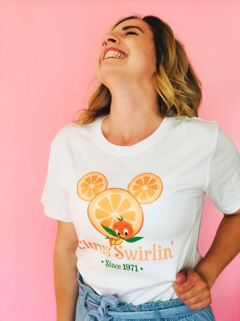 Orange Bird t-shirt inspired by citrus swirls Adventureland image 0