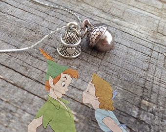 Peter Pan / Wendy / necklace / i shall give you a kiss / acorn / thimble / disney / disney parks / disneyland
