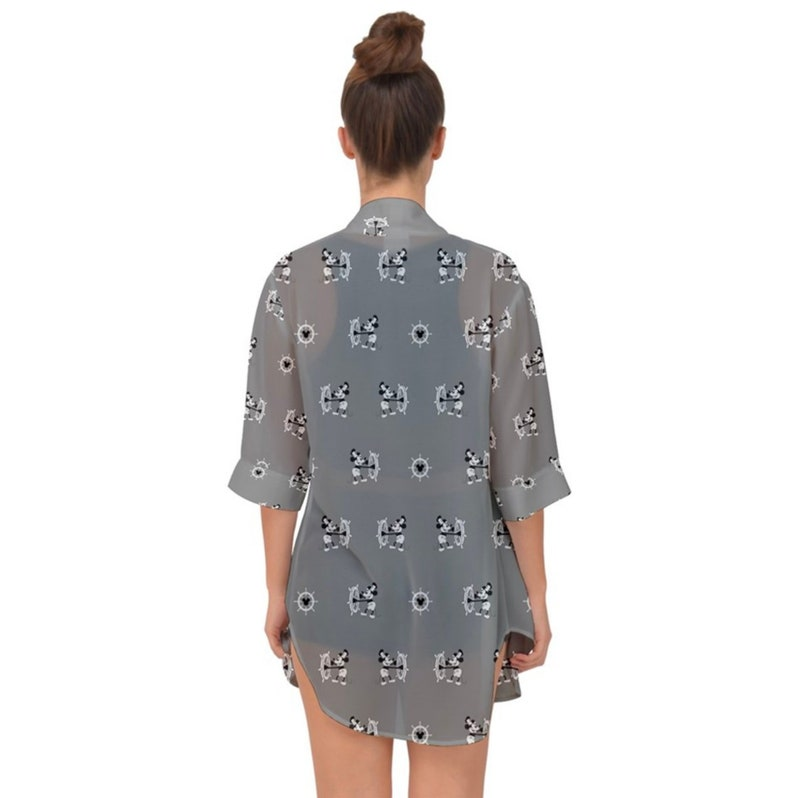 d2d27fa581 NEW Steamboat Willie chiffon kimono inspired by the mouse who   Etsy