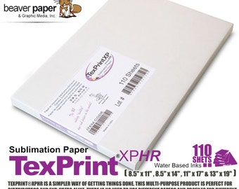 Sublimation Transfer Paper Texprint R Pack of 110   Etsy