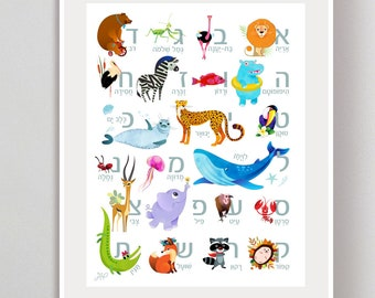 photograph relating to Free Printable Hebrew Alphabet known as Hebrew alphabet Etsy