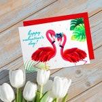 Flamingo Romantic Couple Valentine's Card